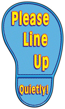 Please Line Up...Quietly! - Image Clip Art
