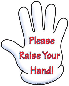 Please Raise Your Hand! | Printable Clip Art and Images