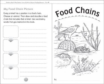 photograph relating to Food Chain Printable titled Food items Chains Printable Mini-Guides