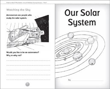 Our Solar System - Printable Worksheet