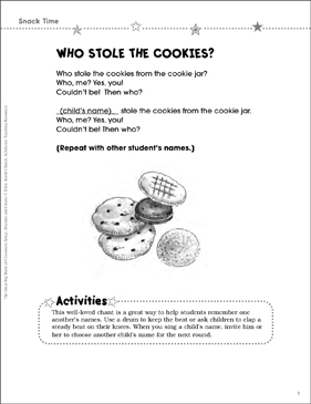 Who Stole the Cookies? - Printable Worksheet