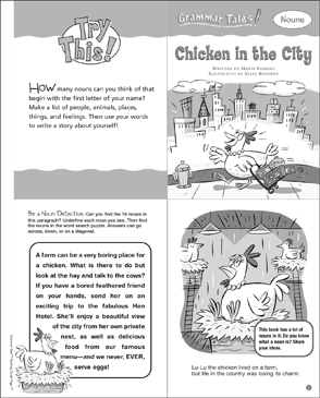 Chicken in the City (Nouns): Grammar Tale - Printable Worksheet