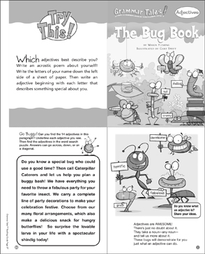 Grammar Tales: The Bug Book (Adjectives) - Printable Worksheet