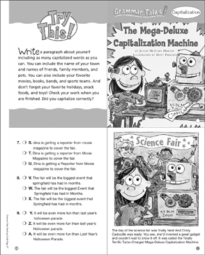 Mega-Deluxe Capitalization Machine: Grammar Tale - Printable Worksheet