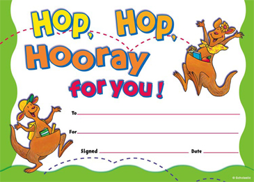 Hop, Hop, Hooray for You! Fill-in Reward - Printable Worksheet