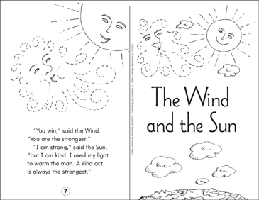 The Wind and the Sun - Printable Worksheet