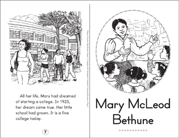 Mary McLeod Bethune - Printable Worksheet