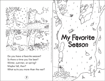 My Favorite Season - Printable Worksheet