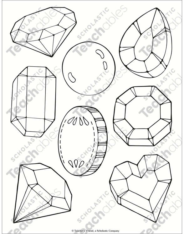 Jewel And Treasure Coloring Page Printable Coloring Pages