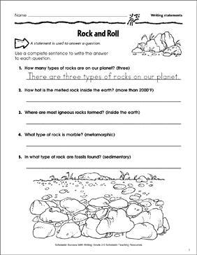 photograph regarding 3 Types of Rocks Printable Worksheets named Rock and Roll (Producing Claims) Printable Capabilities Sheets
