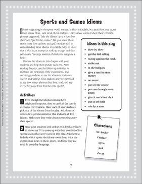 Mr. Becker Gets the Ball Rolling (Sports and Games Idioms): Read-Aloud Play - Printable Worksheet
