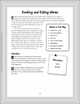 A Half-Baked Plan (Cooking and Eating Idioms): Read-Aloud Play - Printable Worksheet