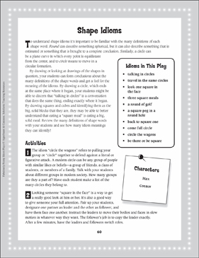 Max Has Come Full Circle (Shape Idioms): Read-Aloud Play - Printable Worksheet