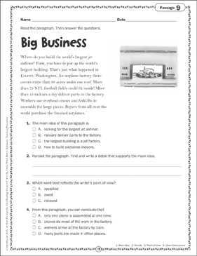 Big Business: Close Reading Passage - Printable Worksheet