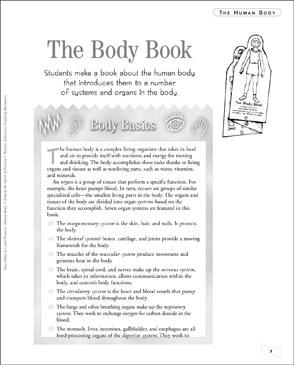 The Body Book - Printable Worksheet