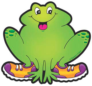 Frog With Orange and Violet Sneakers - Image Clip Art