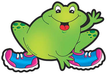 Frog With Blue and Purple Sneakers - Image Clip Art