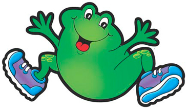 Frog With Blue Sneakers - Image Clip Art