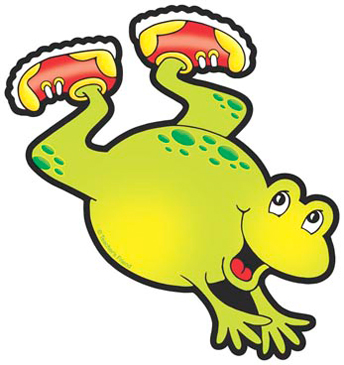 Frog With Red and Yellow Sneakers - Image Clip Art