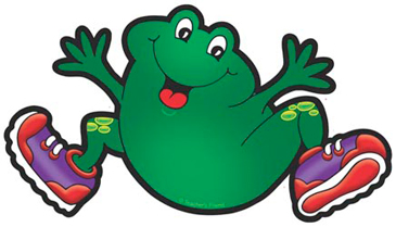 Frog With Purple Sneakers - Image Clip Art