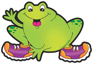 Frog With Purple and Orange Sneakers - Image Clip Art