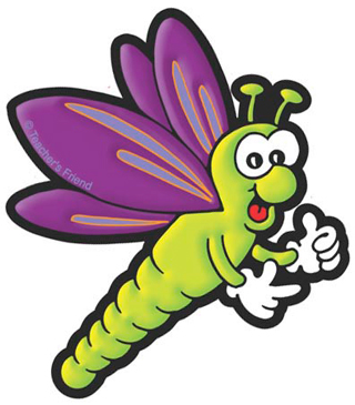 Green and Purple Dragonfly - Image Clip Art
