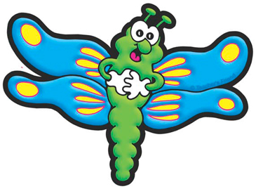 Green and Blue Dragonfly - Image Clip Art