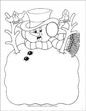 Snowman Reproducible - Printable Worksheet