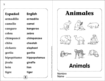Animales/Animals | Printable Mini-Books