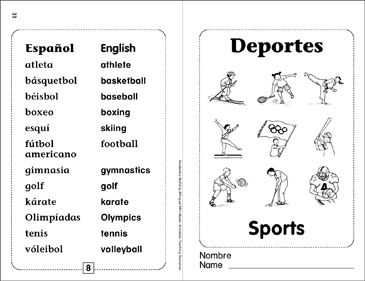Deportes/Sports - Printable Worksheet