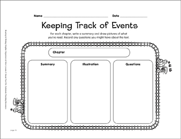 Reading Graphic Organizer: Keeping Track of Events - Printable Worksheet
