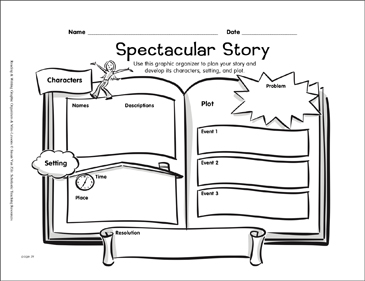 Writing Graphic Organizer: Spectacular Story - Printable Worksheet