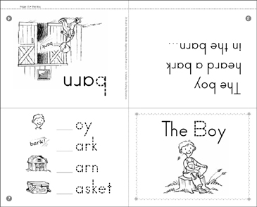The Boy: Beginning Sounds Mini-Book - Printable Worksheet