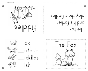 The Fox: Beginning Sounds - Printable Worksheet