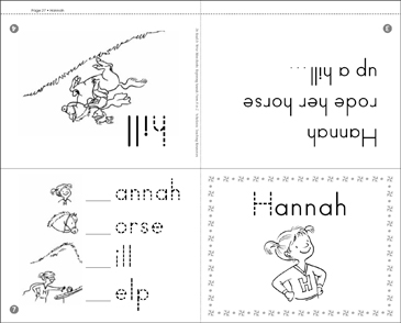 Hannah: Beginning Sounds - Printable Worksheet
