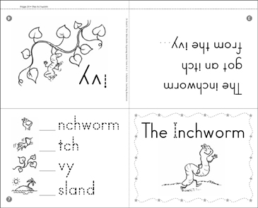 The Inchworm: Beginning Sounds Mini-Book - Printable Worksheet