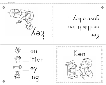 Ken: Beginning Sounds Mini-Book - Printable Worksheet