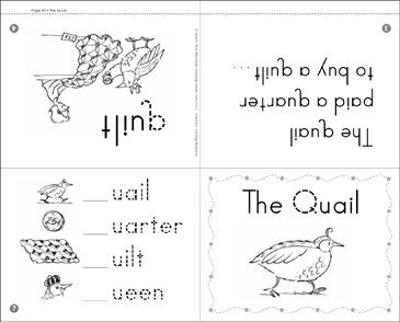 The Quail: Beginning Sounds - Printable Worksheet