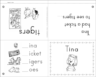 Tina: Beginning Sounds - Printable Worksheet