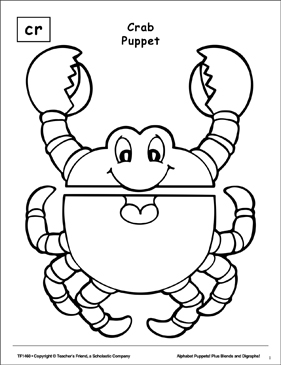 The Sound Cr: Crab Puppet - Printable Worksheet