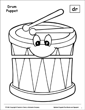 The Sound Dr: Drum Puppet - Printable Worksheet
