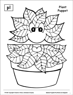 The Sound Pl: Plant Puppet - Printable Worksheet