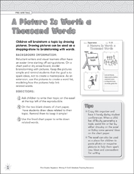 A Picture is Worth a Thousand Words (Pre-Writing) Graphic Organizer - Printable Worksheet
