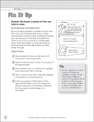 Fix It Up (Revising) Graphic Organizer - Printable Worksheet