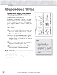 Stupendous Titles (Revising) Graphic Organizer - Printable Worksheet