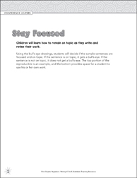 Stay Focused (Conference Helpers) Graphic Organizer - Printable Worksheet