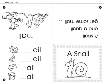 A Snail (-ail word family) - Printable Worksheet