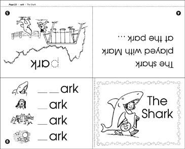 The Shark (-ark word family) - Printable Worksheet