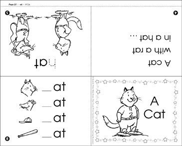 A Cat (-at word family) - Printable Worksheet