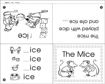 The Mice (-ice word family) - Printable Worksheet